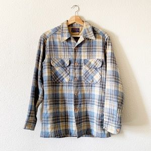 Pendleton Plaid Virgin Wool Button Down
